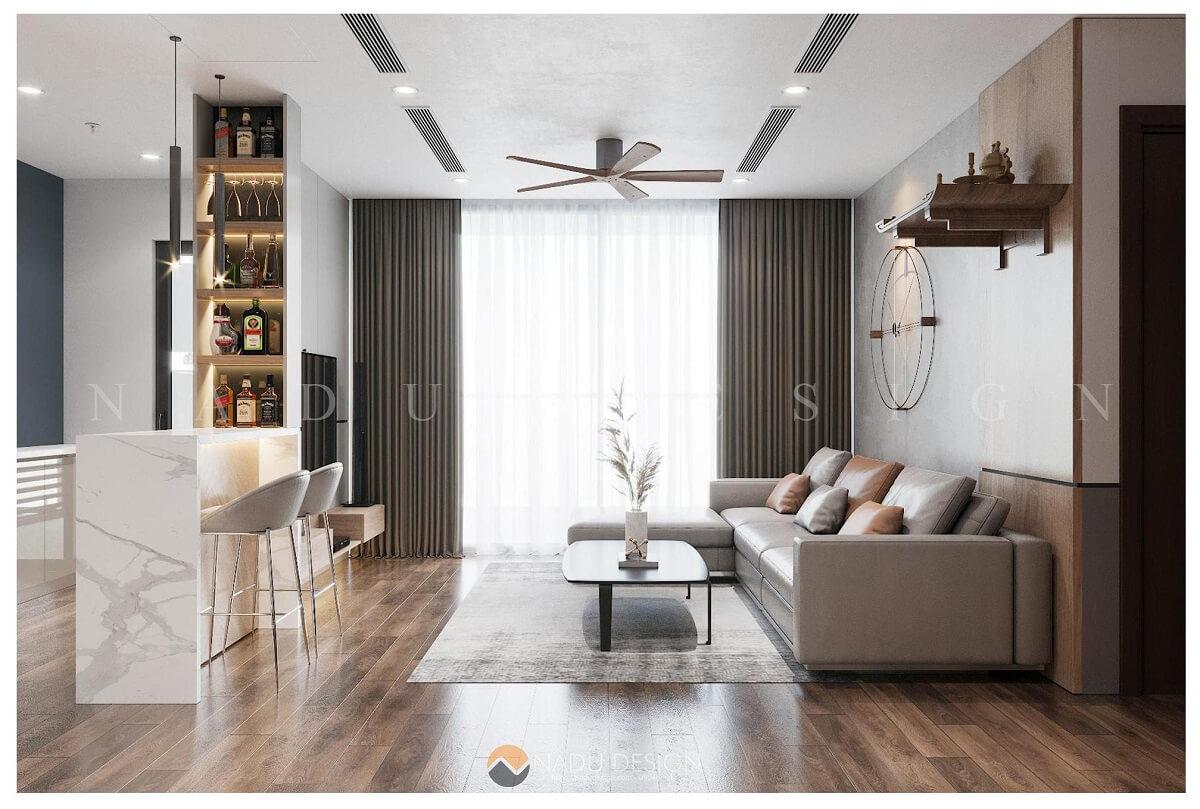 Mẫu thiết kế nội thất nhà chung cư đẹp mĩ mãn