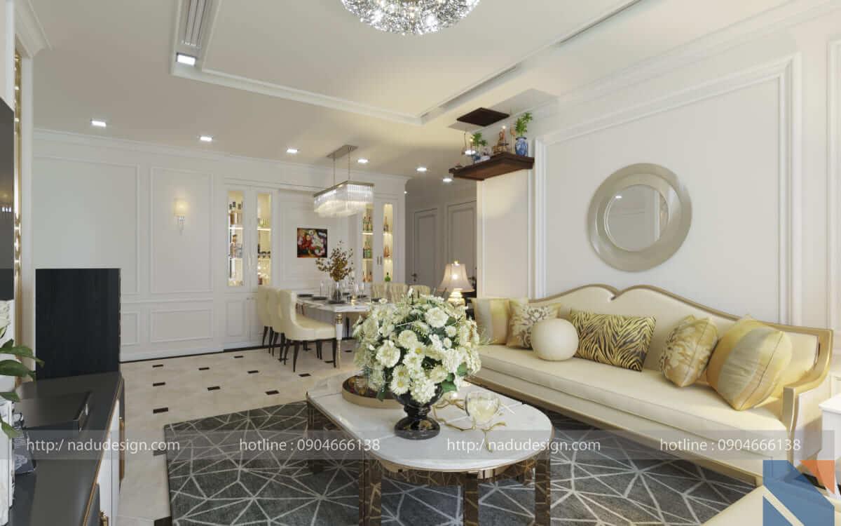 Thiết kế nội thất nhà chung cư phong cách cổ điển