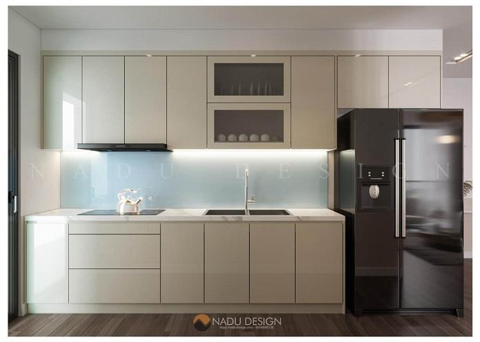 Thiết kế phòng bếp nội thất chung cư 3 phòng ngủ