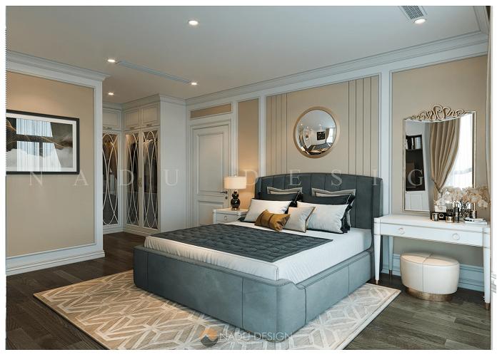 Thiết kế nội thất phòng ngủ chung cư 120m2