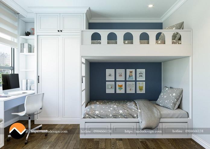 Thiết kế nội thất phòng ngủ nhỏ cho bé trai