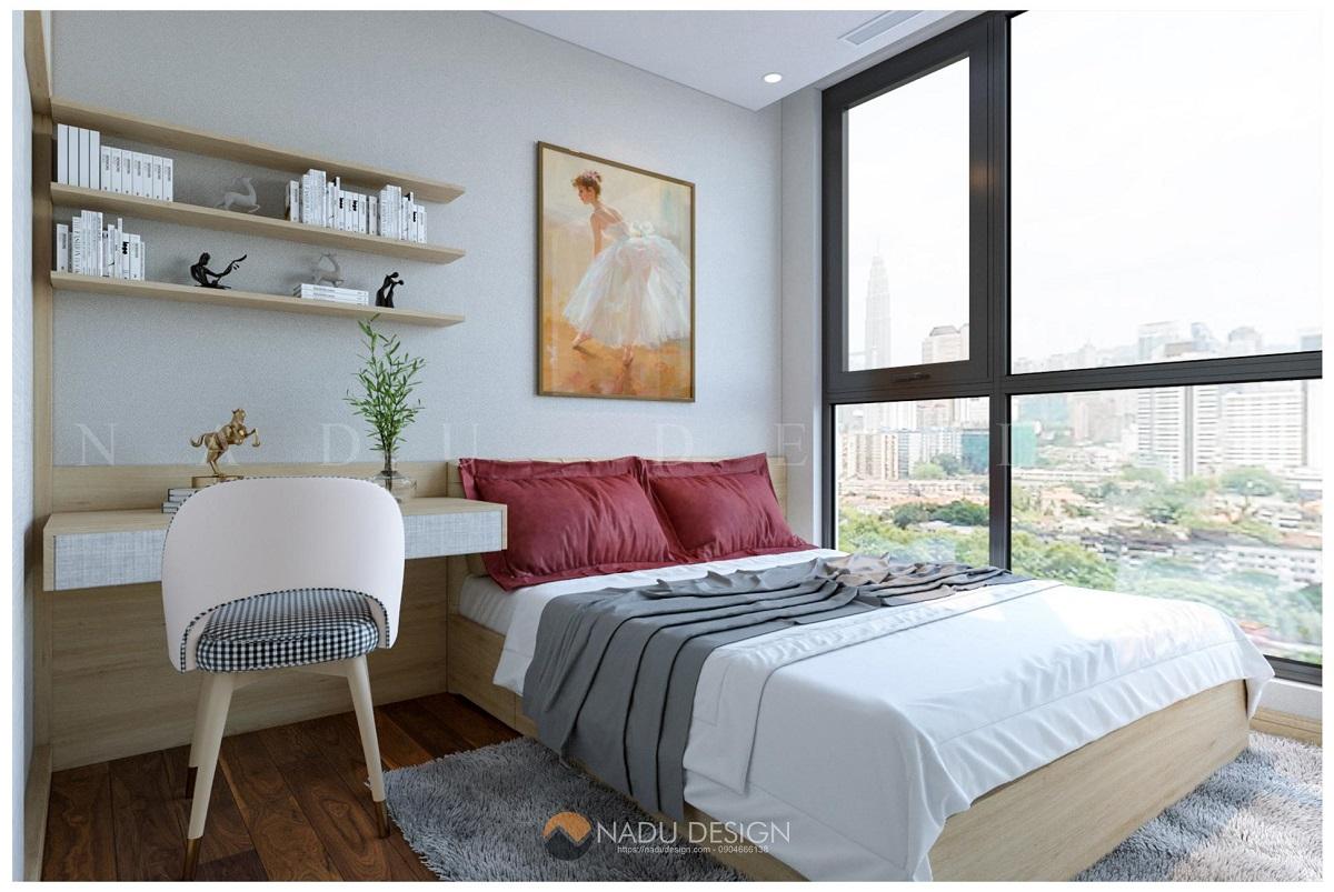 Thiết kế nội thất phòng ngủ phong cách hiện đại do NaDu thực hiện