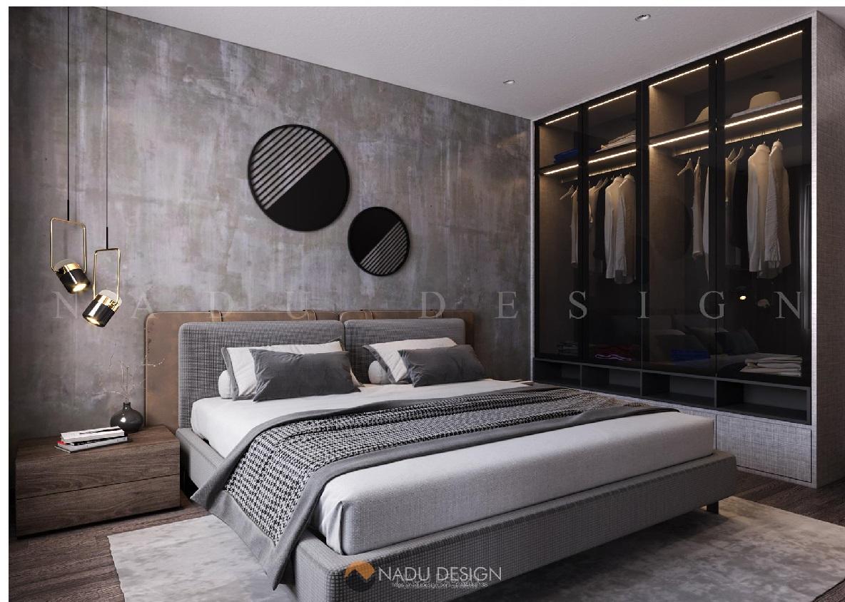 Thiết kế nội thất phòng ngủ chung cư 150m2 theo phong cách hiện đại