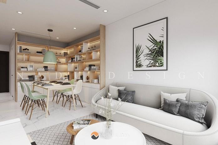 Thiết kế phòng khách nội thất chung cư 3 phòng ngủ
