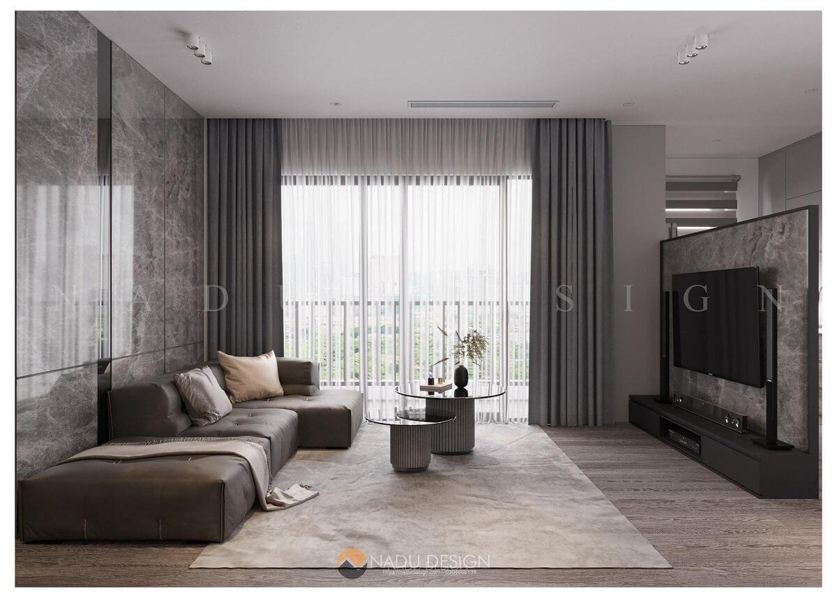 Thiết kế phòng khách chung cư theo phong cách hiện đại