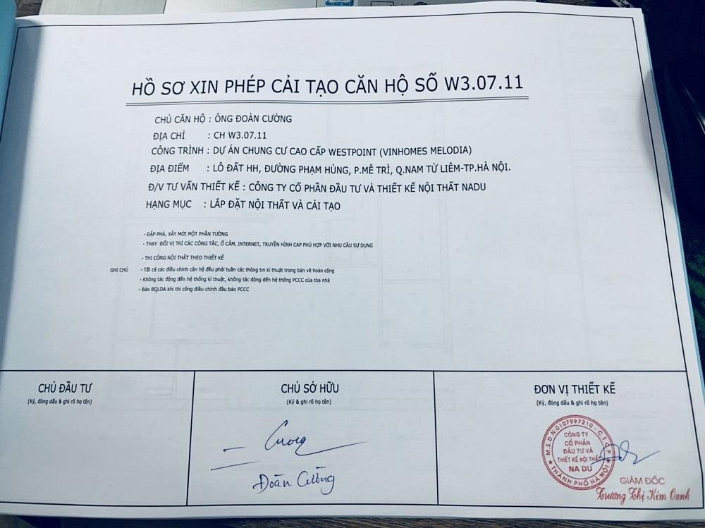 Mẫu hồ sơ xin cấp phép thi công