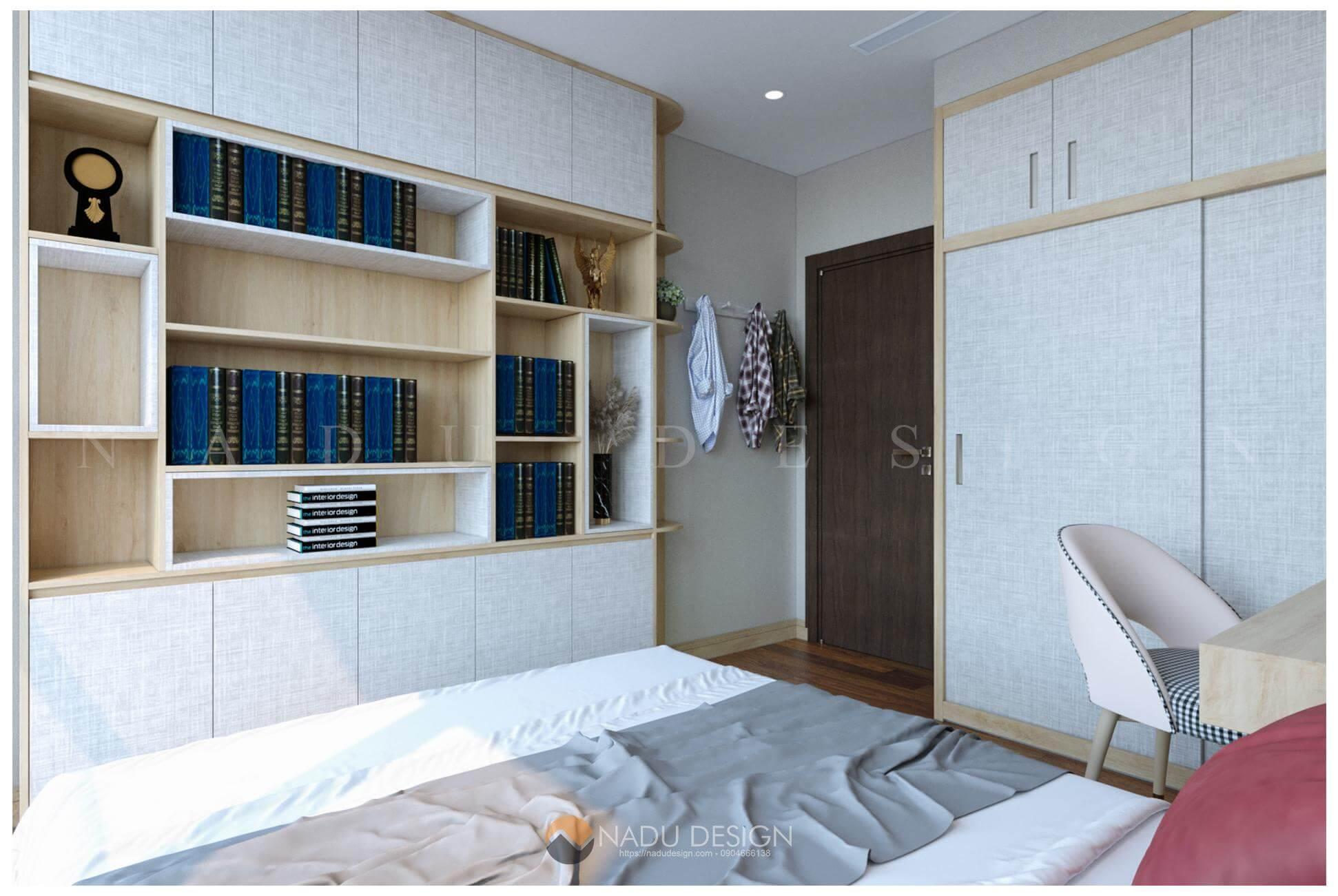 thiết kế nội thất căn hộ Vinhomes West Point nhà chị Huệ phòng ngủ 12