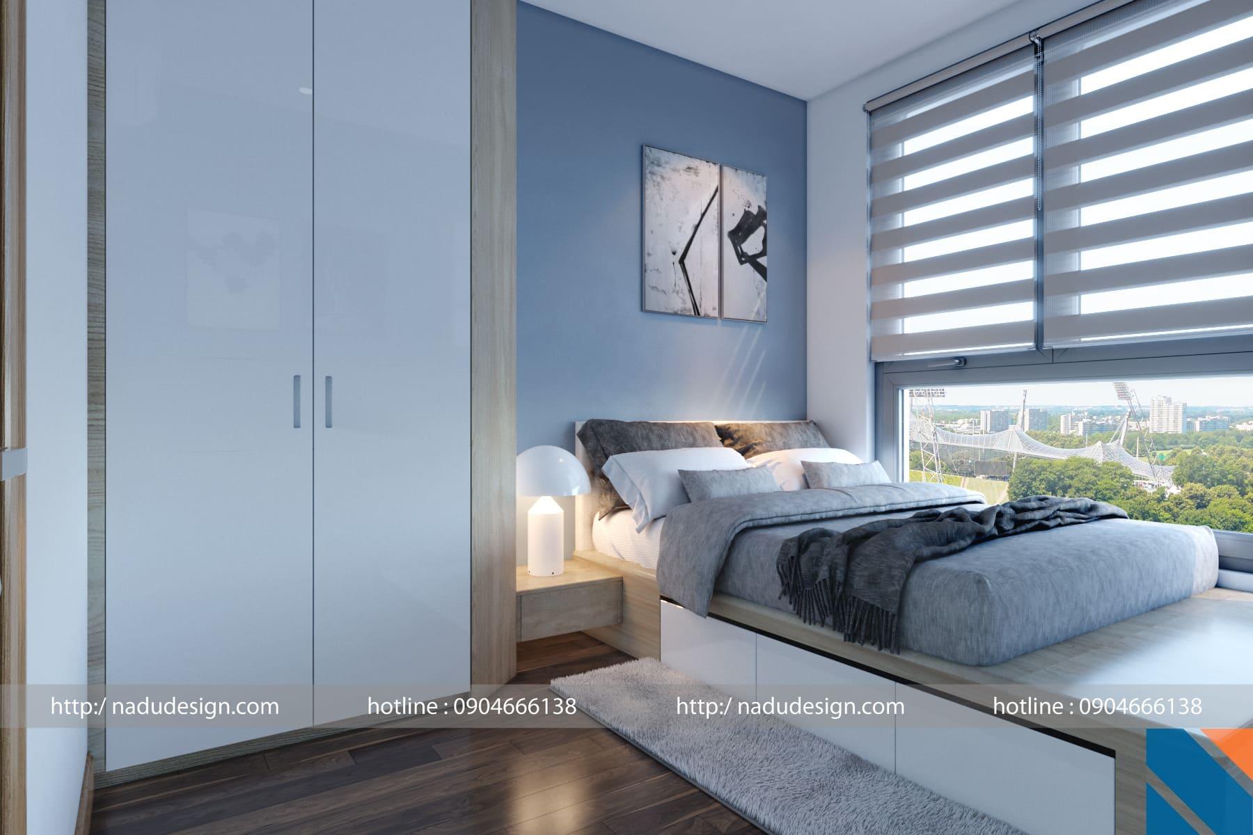 Giường ngủ gỗ Laminate bền đẹp và tiện dụng