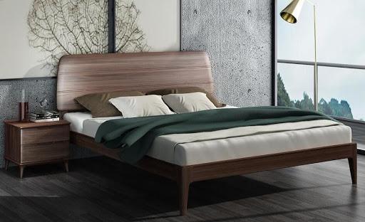 Mẫu giường ngủ gỗ óc chó mới nhất