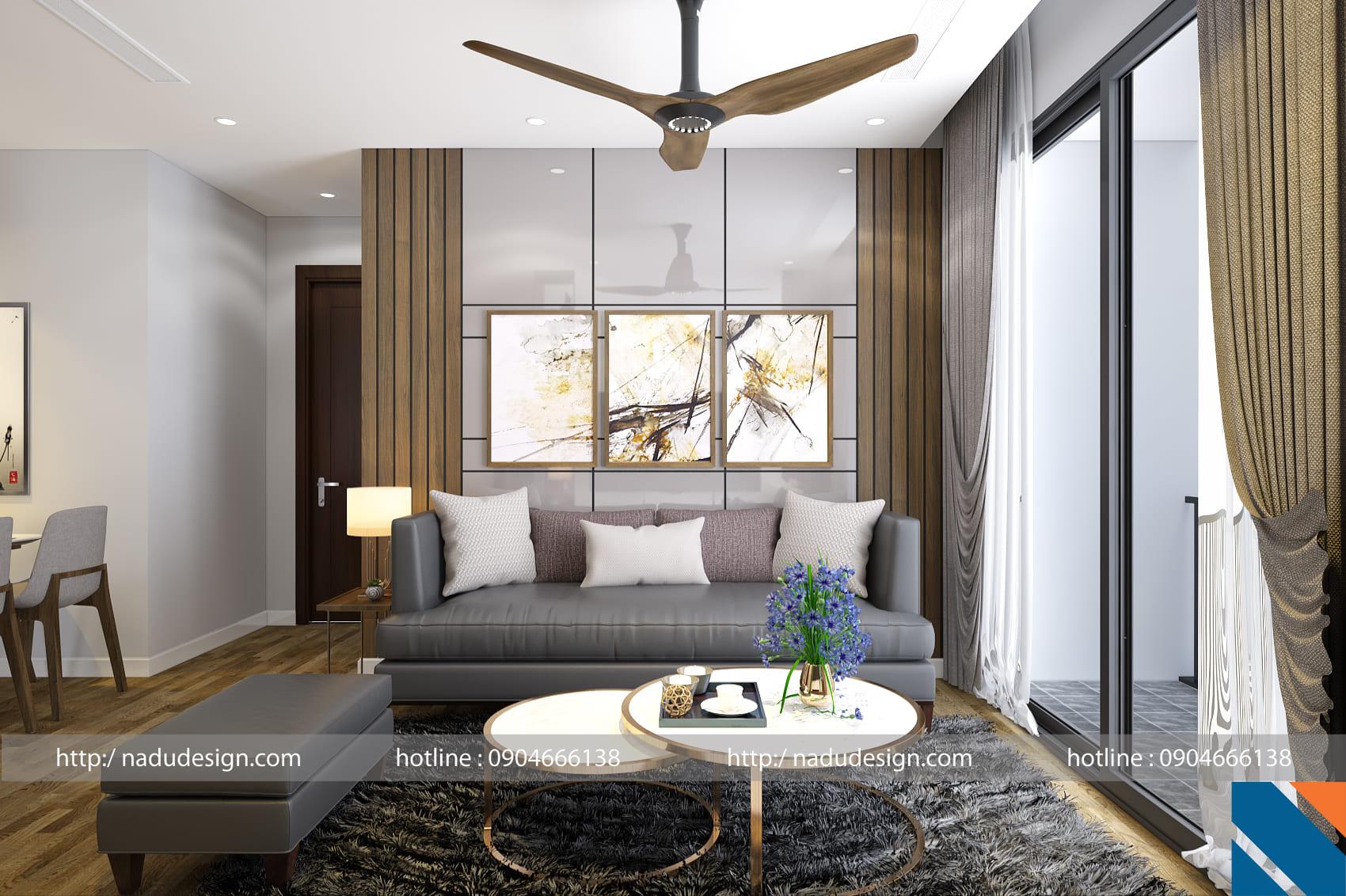 Mẫu thiết kế nội thất chung cư 3 phòng ngủ NADU Design