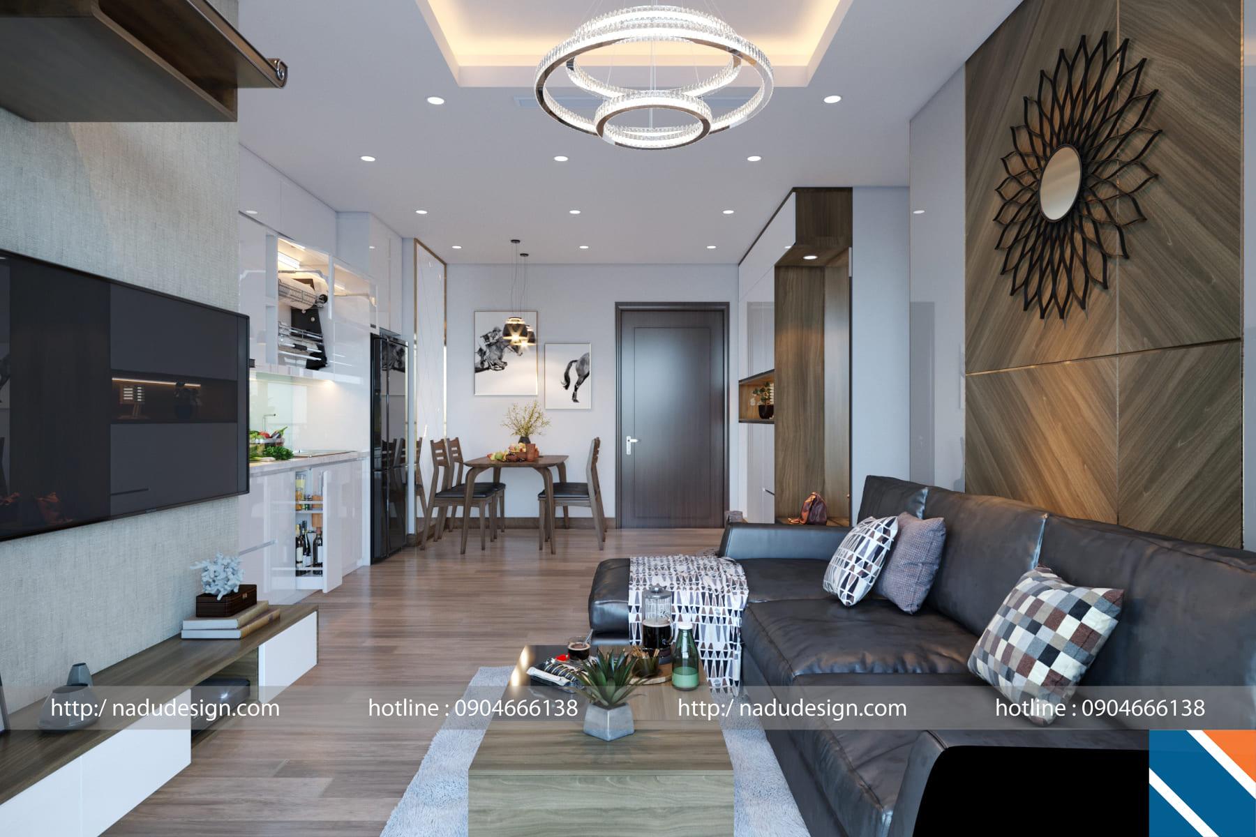 Mẫu thiết kế nội thất chung cư 3 phòng ngủ NADU Design (ảnh 2)