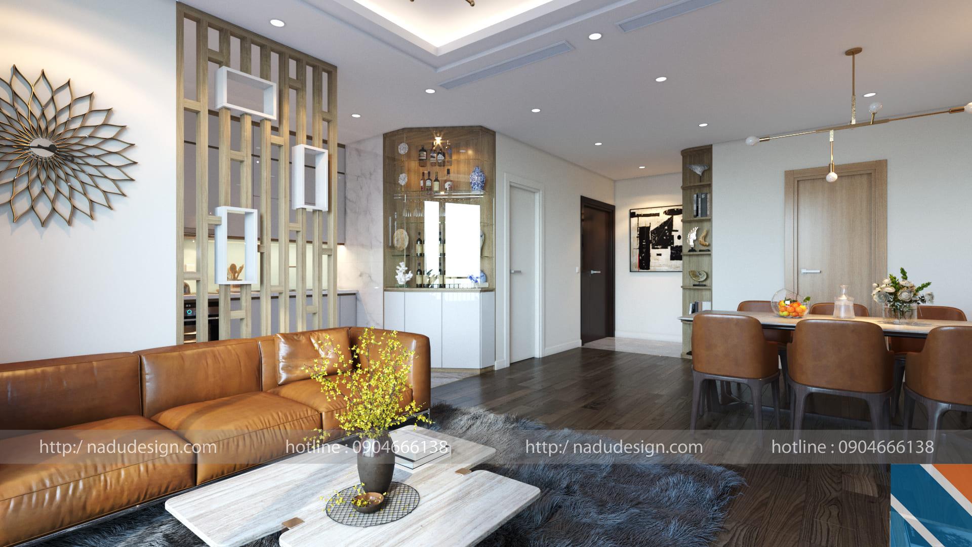 Mẫu thiết kế nội thất chung cư 3 phòng ngủ NADU Design (ảnh 3)