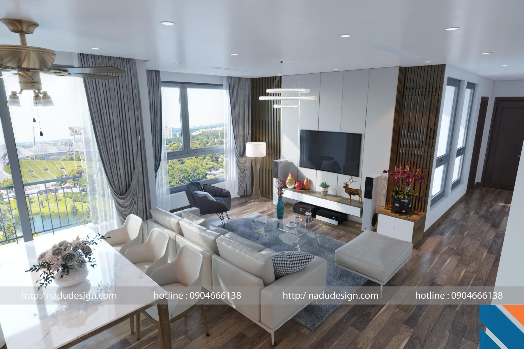 Mẫu thiết kế nội thất chung cư 3 phòng ngủ (ảnh 4)