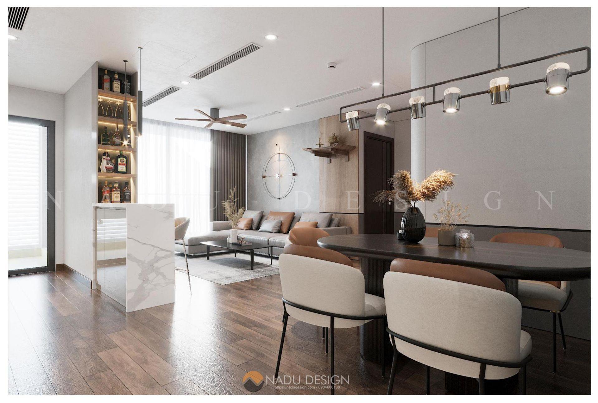 Mẫu thiết kế nội thất theo phong cách hiện đại