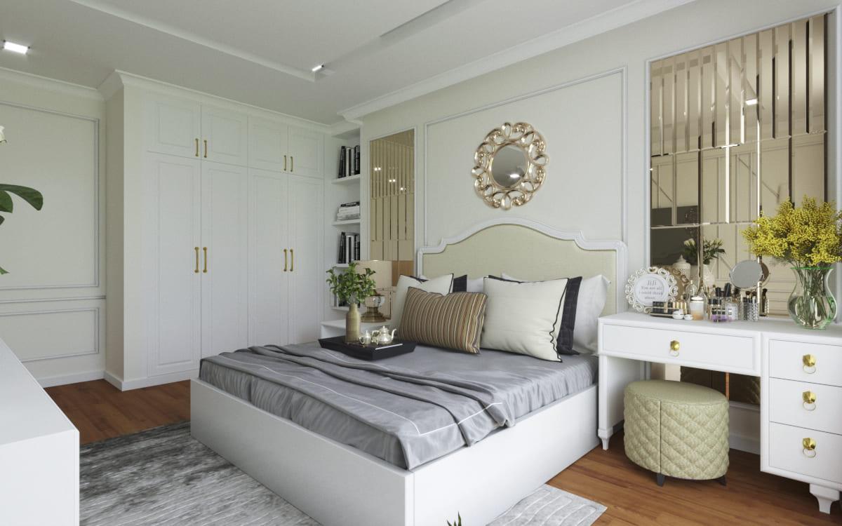 Mẫu thiết kế nội thất tân cổ điển đẹp sang trọng