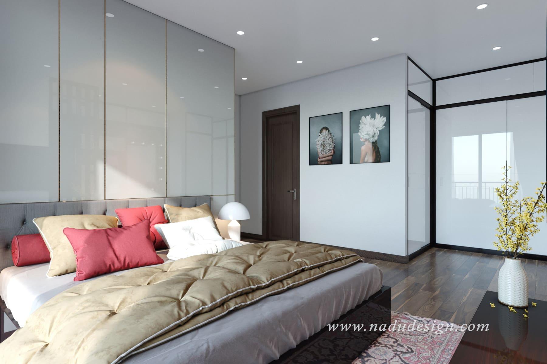 Mẫu phòng ngủ master 30m2
