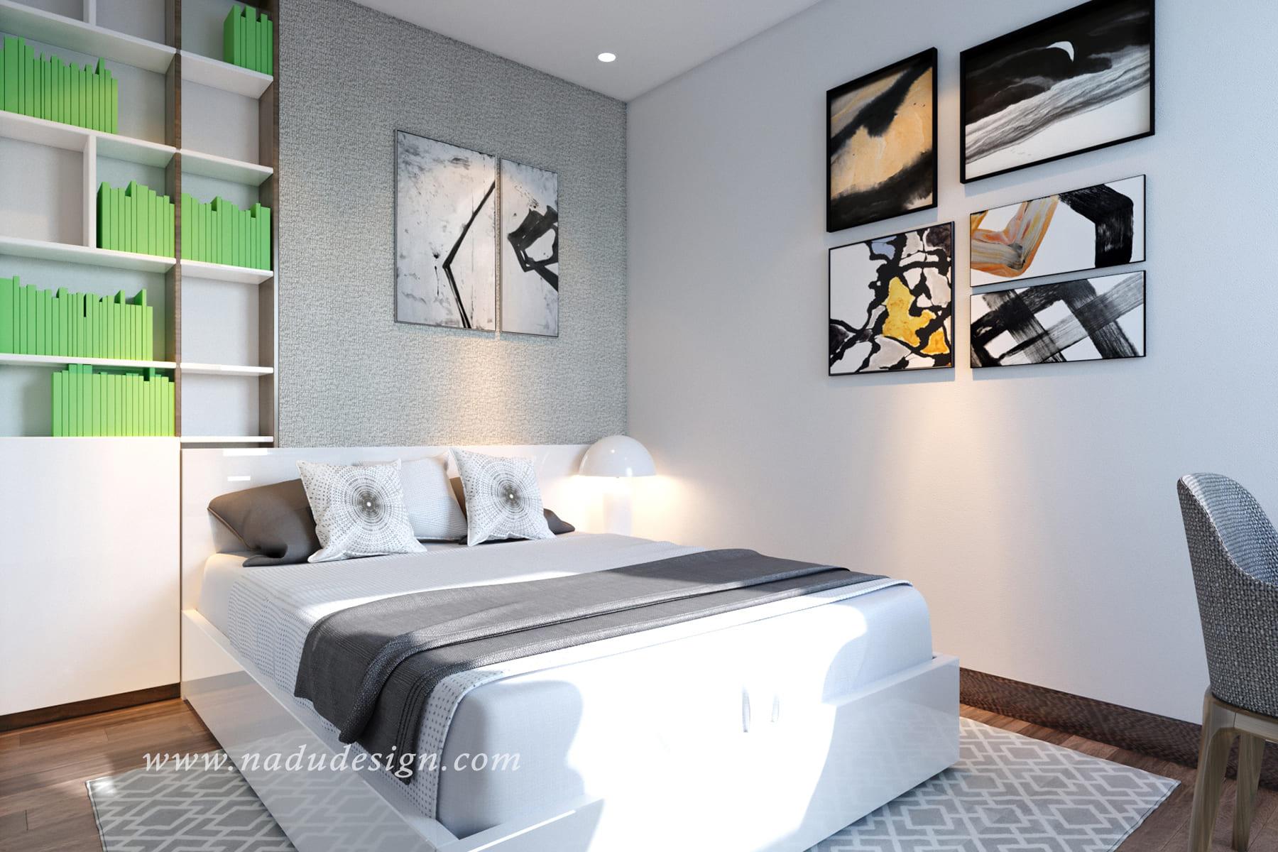 Phòng ngủ master nhỏ