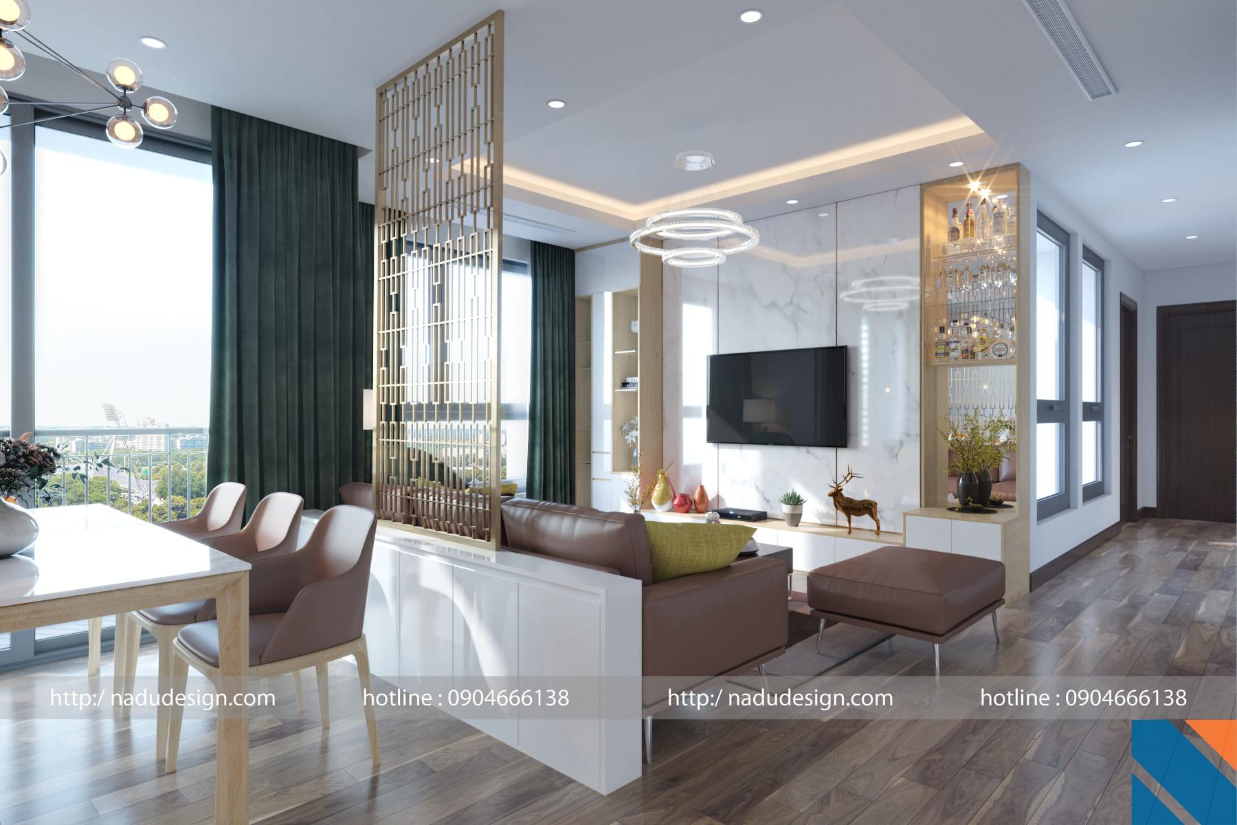 Mẫu thiết kế nội thất hợp phong thủy nhà ở của Nadu Design