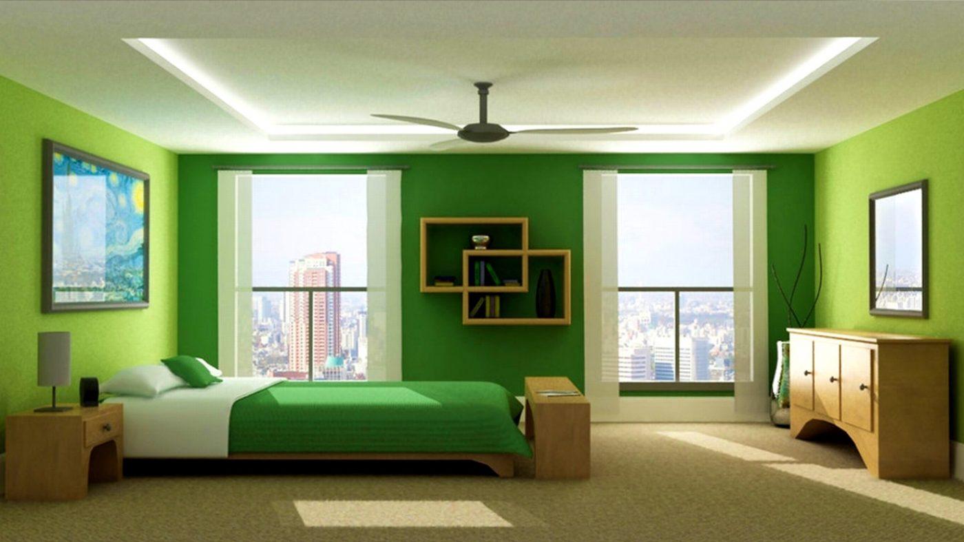 Phòng ngủ màu xanh lá hợp phong thủy phòng ngủ tuổi Đinh Mão 1987