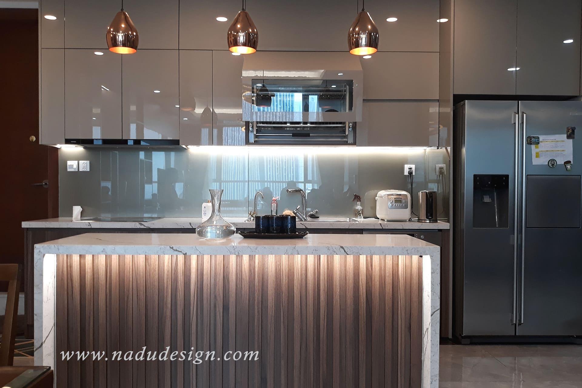 Báo giá hoàn thiện thi công nội thất chung cư đẹp-phòng bếp