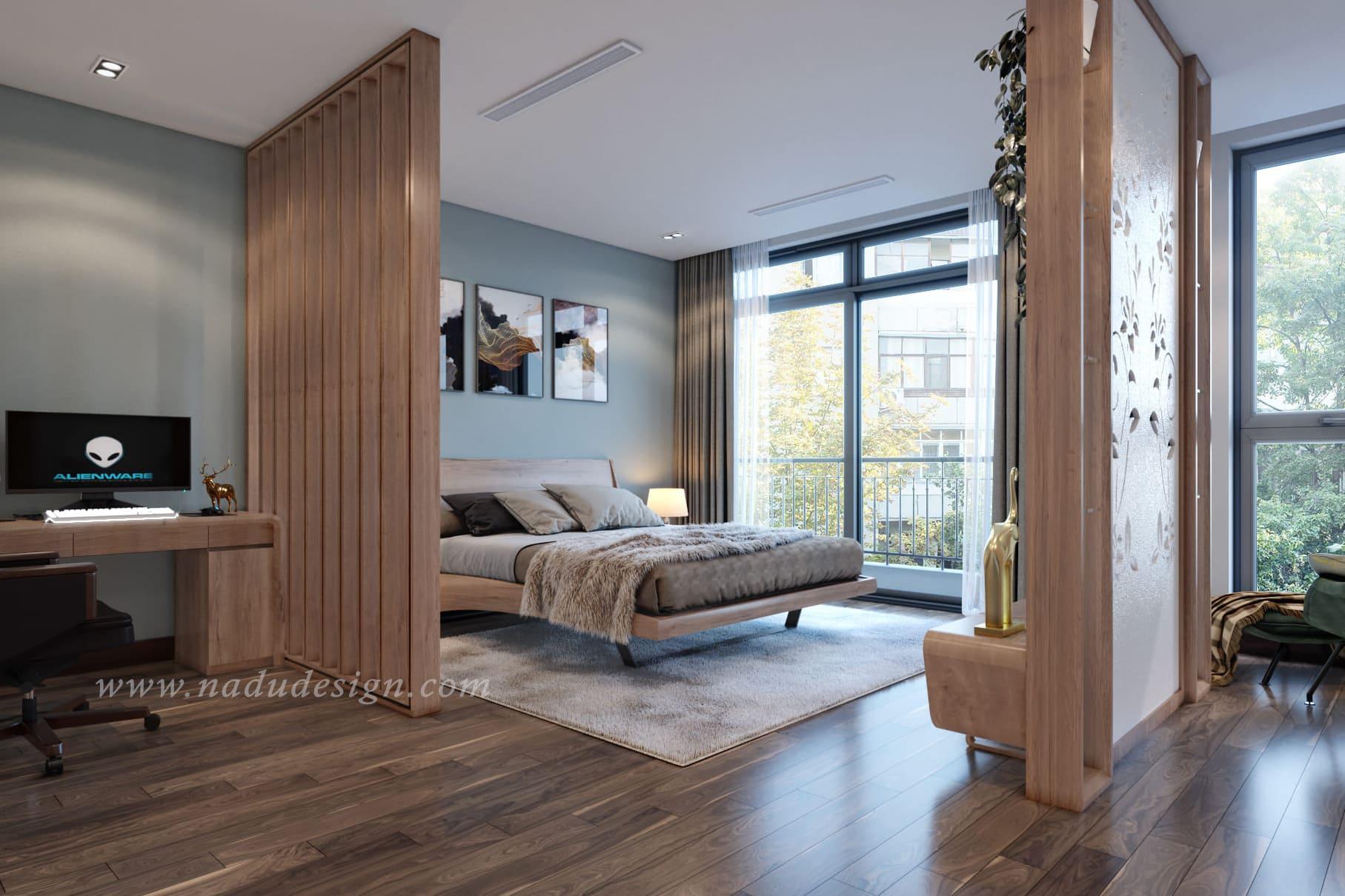 thiết kế nội thất biệt thự cao cấp cho phòng ngủ