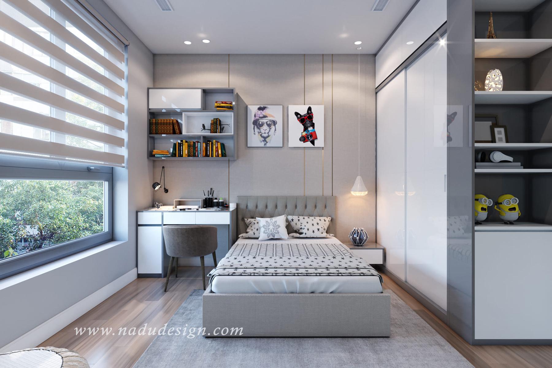 thiết kế nội thất phòng ngủ cho trẻ