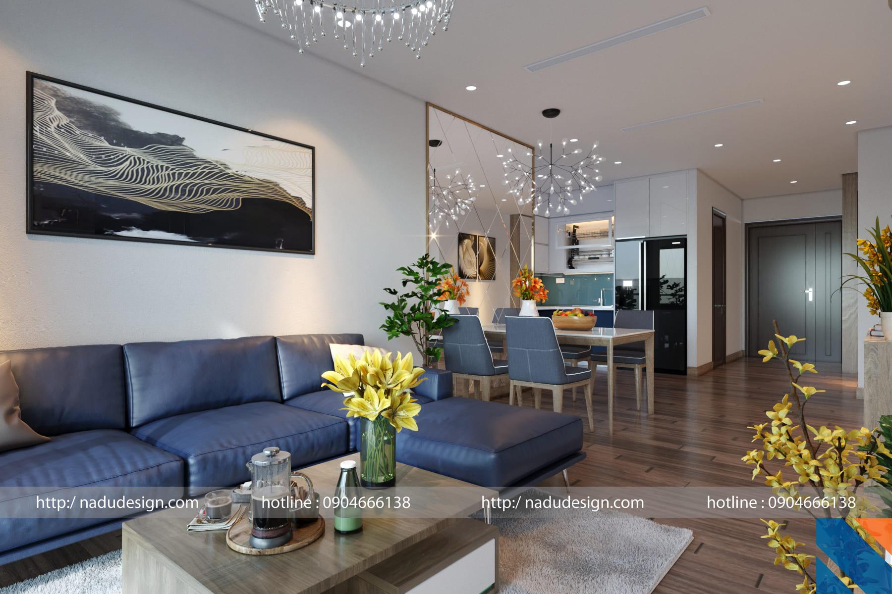 Thiết kế nội thất chung cư 100m2 đẹp và sáng tạo