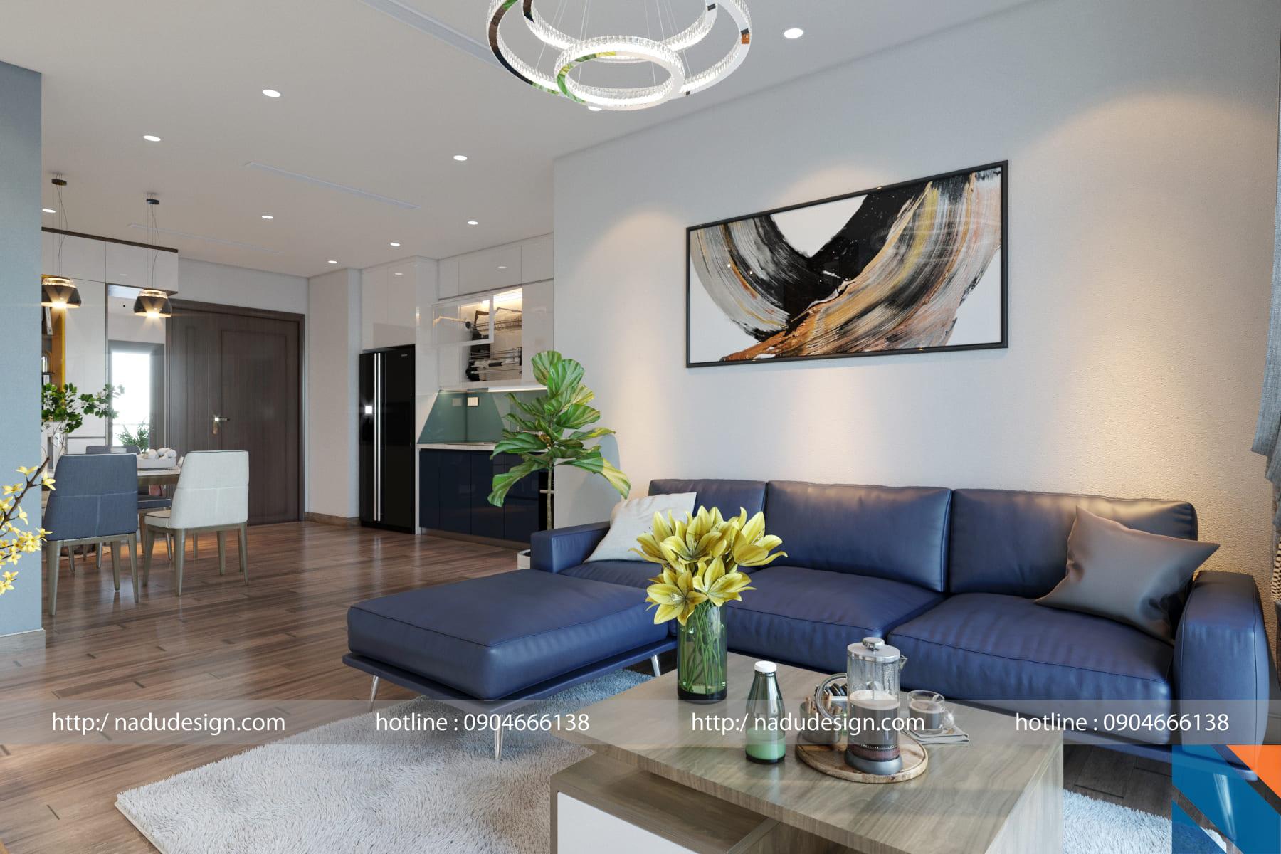 Thiết kế nội thất chung cư 100m2 hiện đại và độc đáo