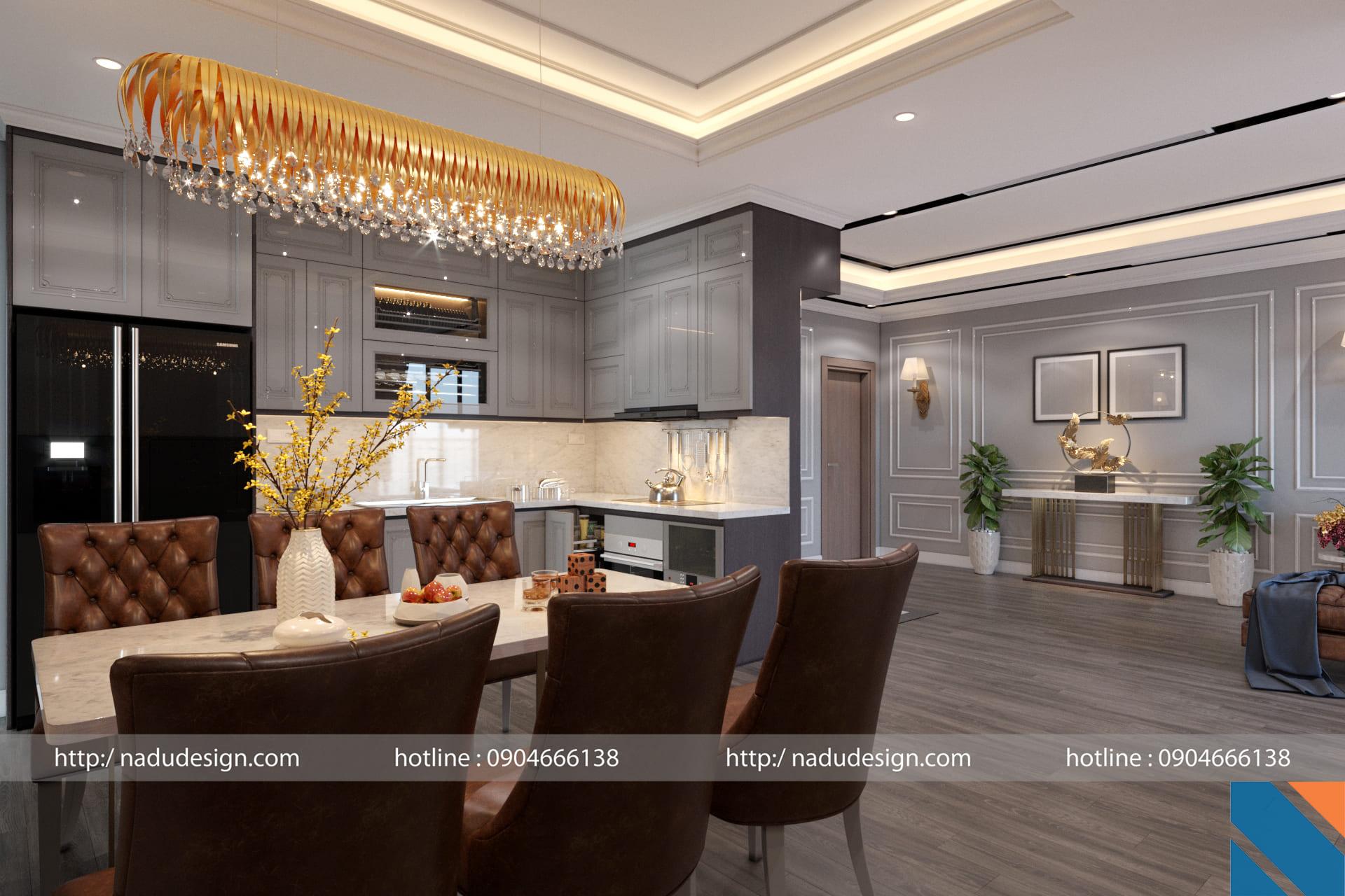 Thiết kế nội thất căn hộ chung cư 100m2