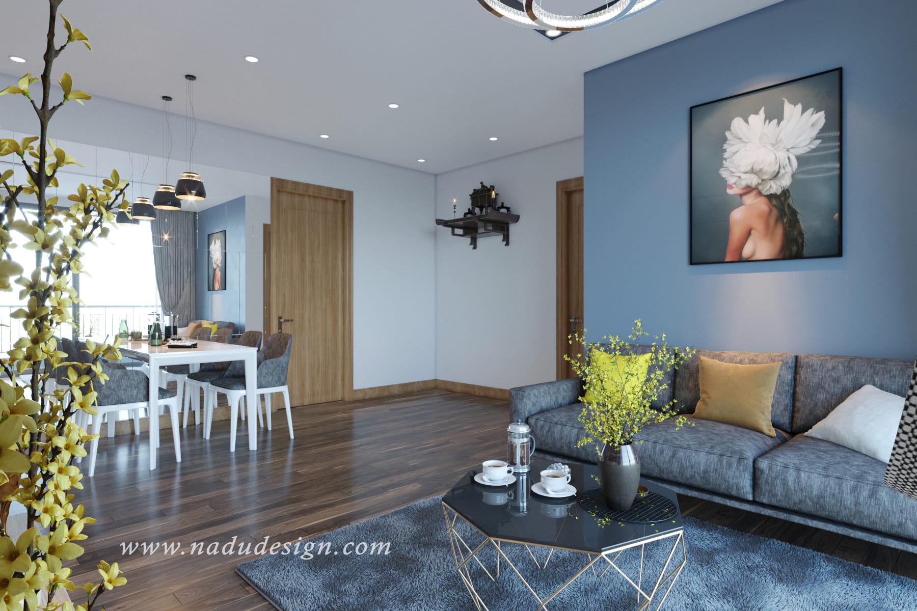 Tuyệt chiêu thiết kế nội thất căn hộ 100m2