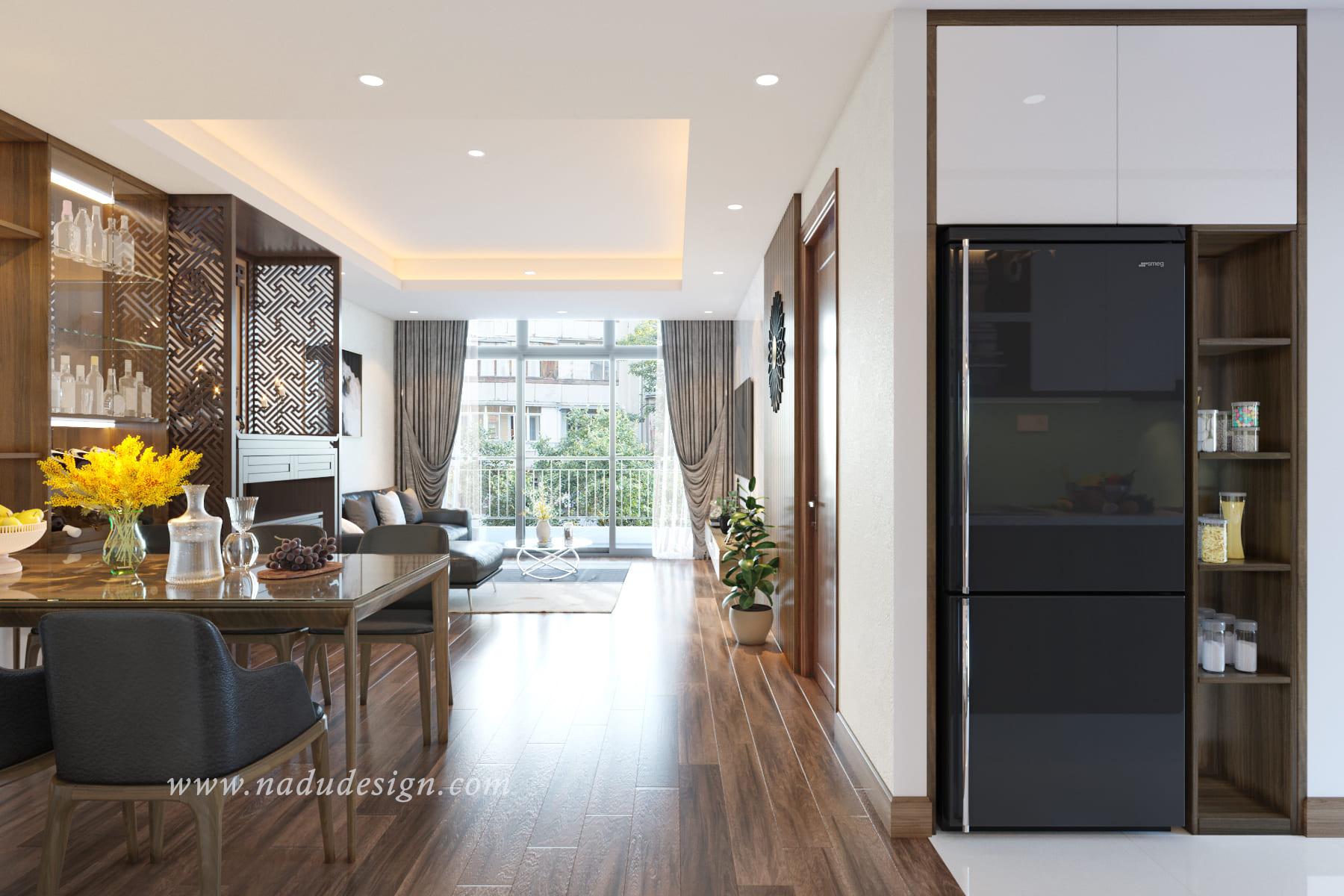 thiết kế nội thất chung cư cho phòng bếp