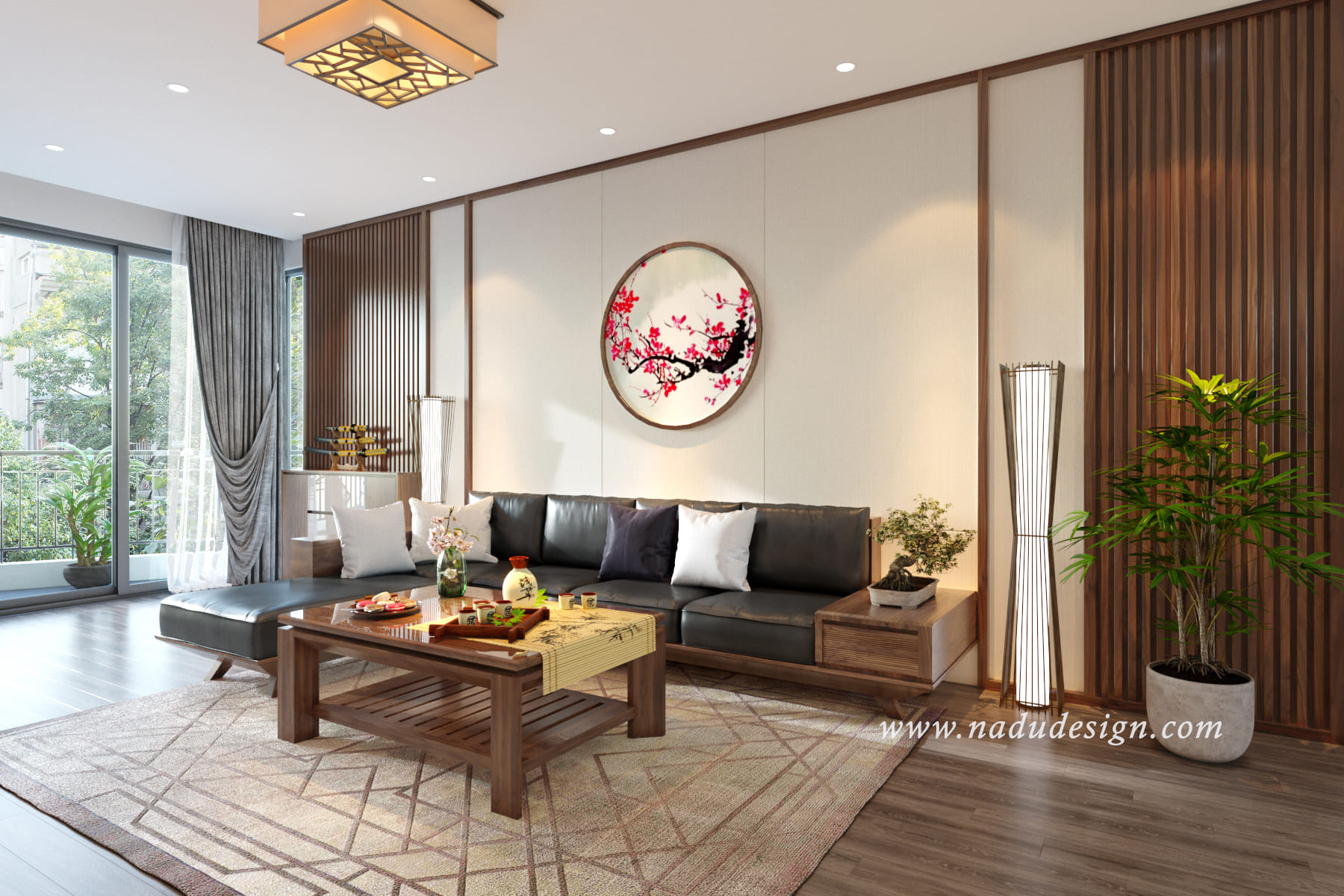 thiết kế nội thất chung cư đẹp - tạo điểm nhấn
