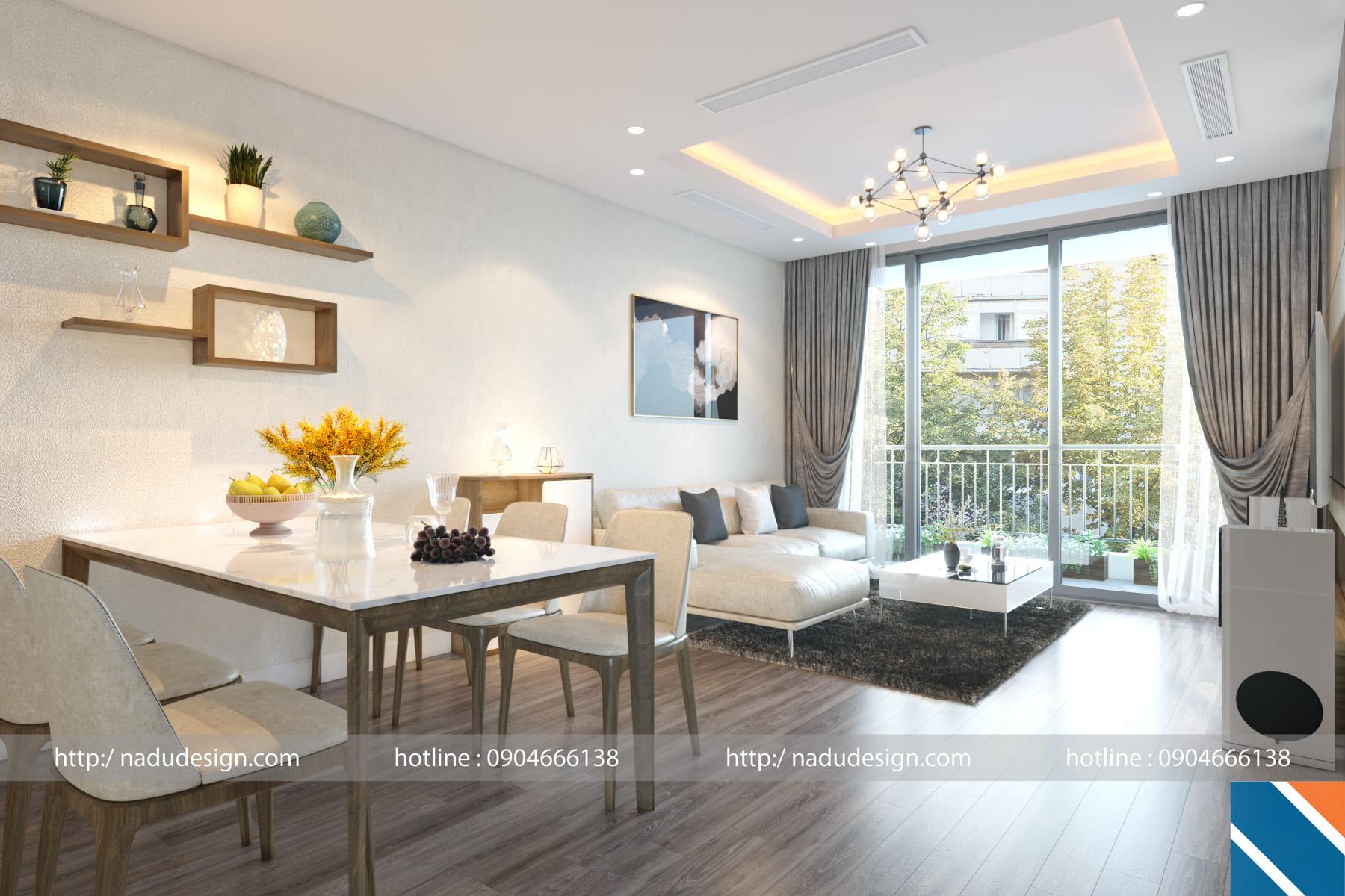Thiết kế nội thất chung cư hiện đại anh Hùng
