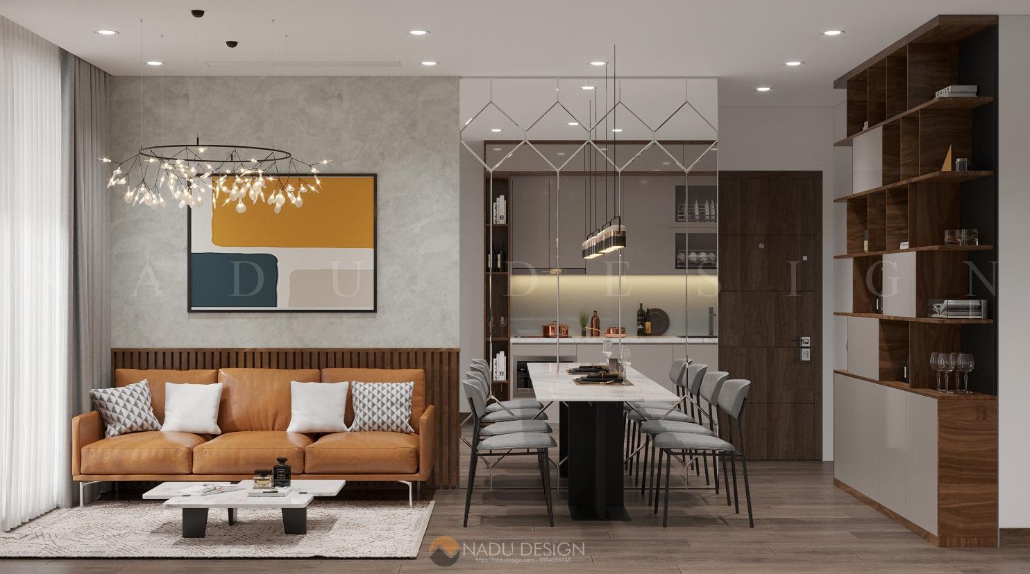 Thiết kế nội thất chung cư phong cách đương đại