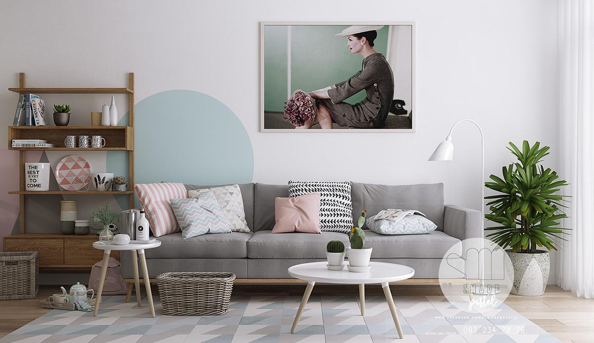 thiết kế nội thất chung cư phong cách scandanivian