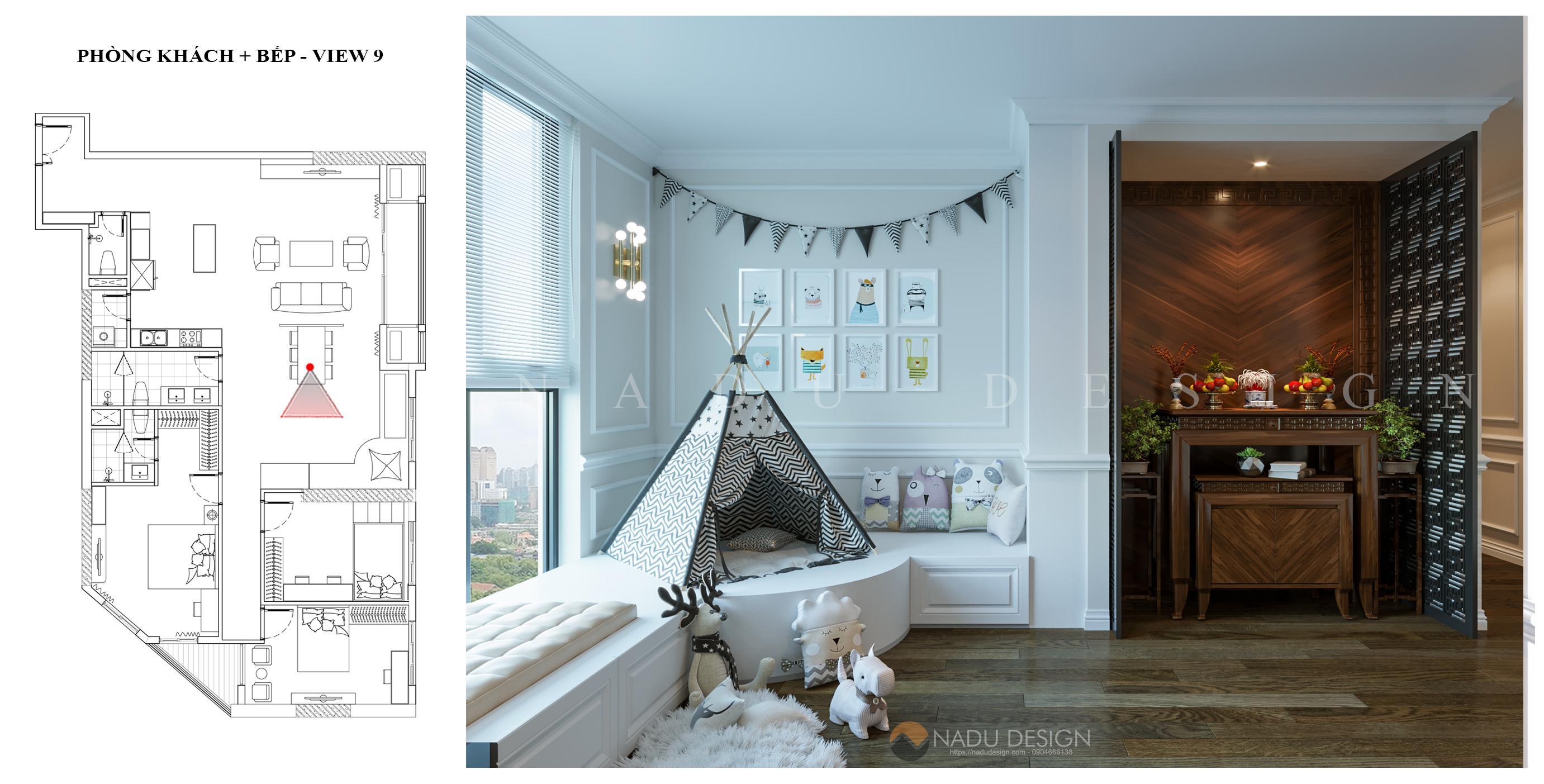 Thiết kế nội thất chung cư Sun Grand City theo phong cách tân cổ