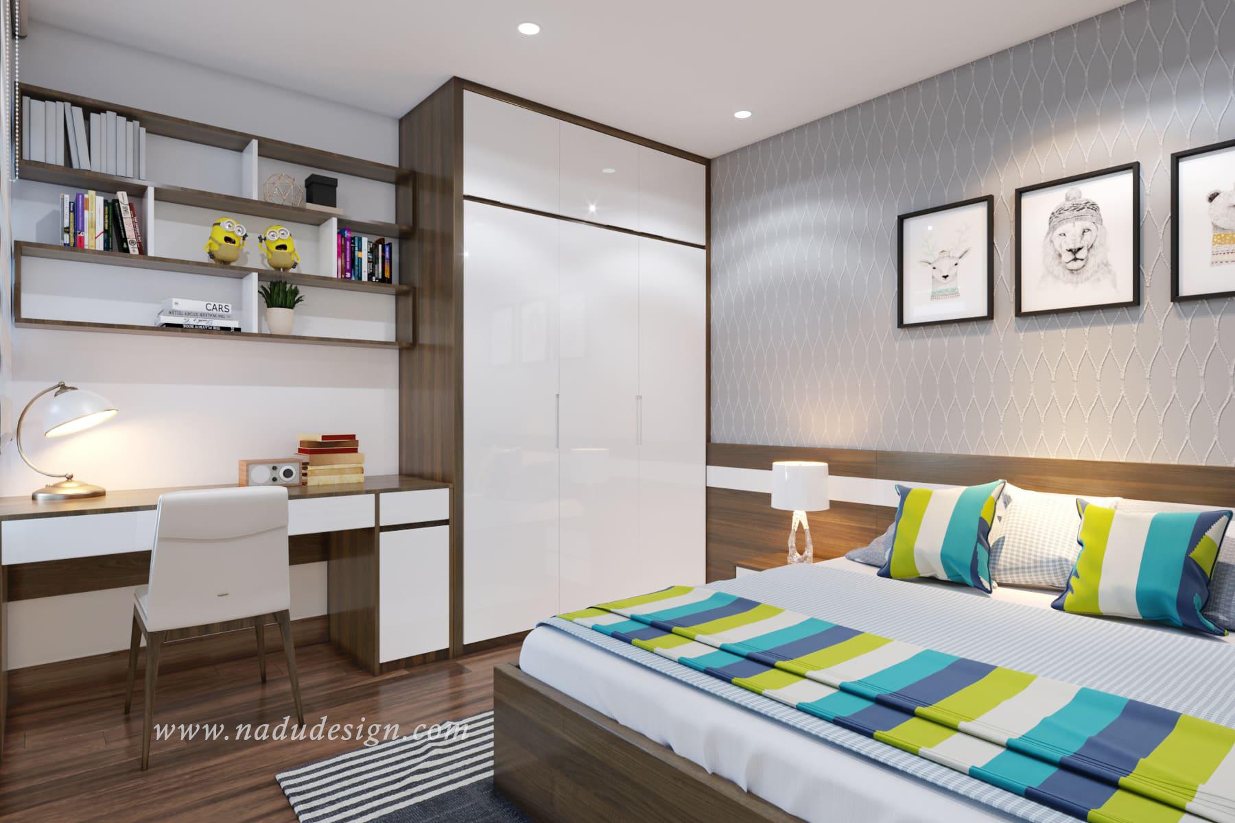 thiết kế nội thất phòng ngủ cho bé gái