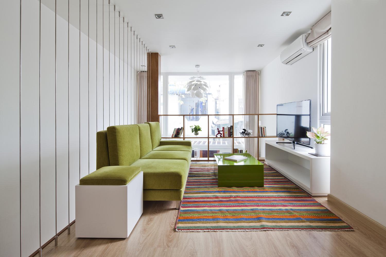 Thiết kế nội thất nhà ống sử dụng gam màu sáng