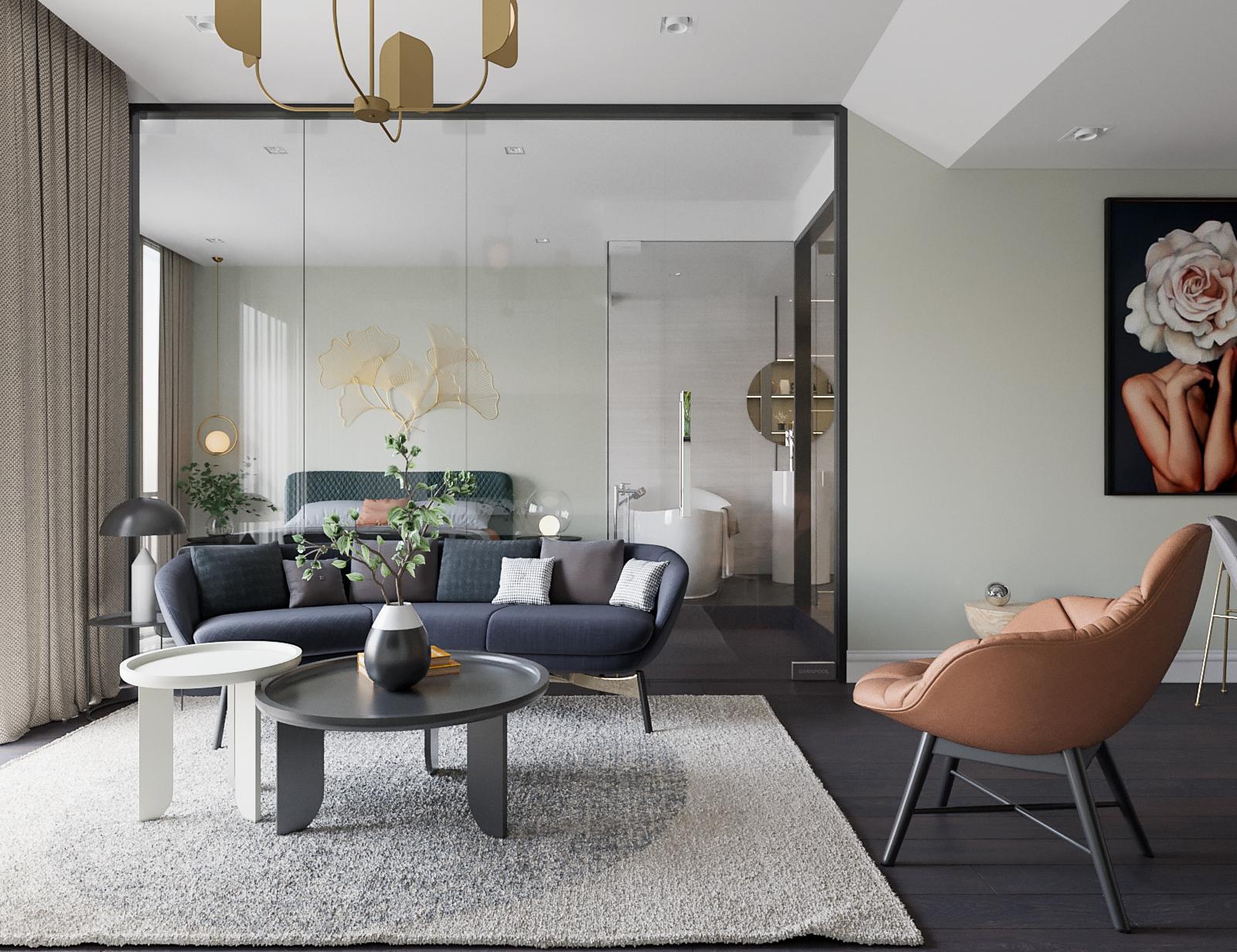 thiết kế nội thất nhà phố phòng khách
