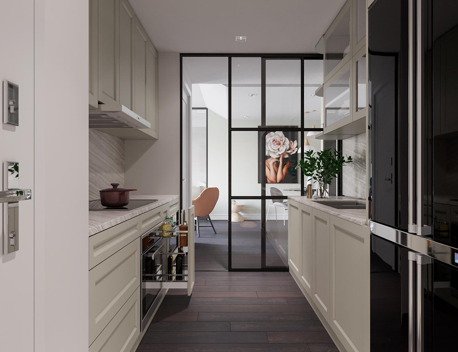 Thiết kế nội thất nhà phố phòng bếp