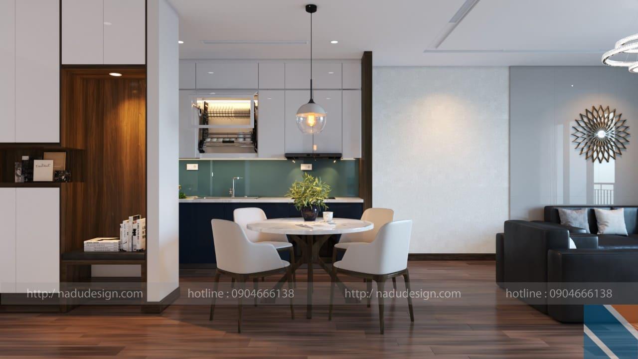 Thiết kế nội thất phòng bếp chung cư đẹp