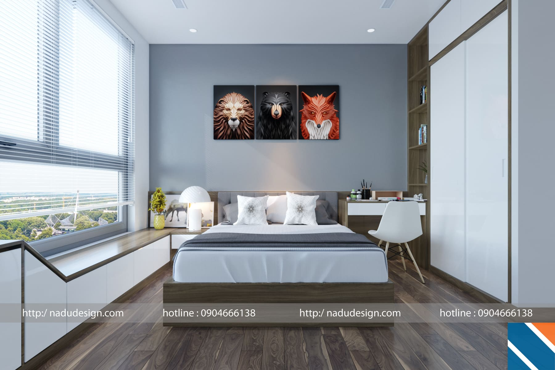Thiết kế nội thất phong cách hiện đại ảnh 2