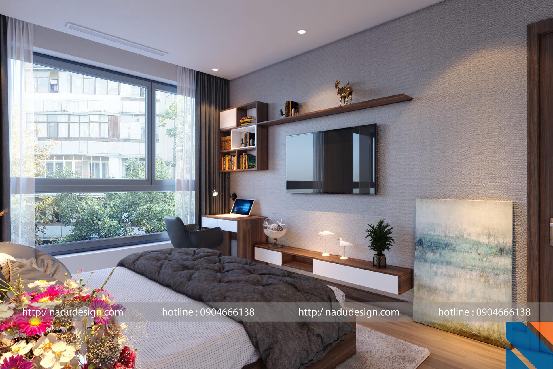 Thiết kế nội thất phòng ngủ 20m vuông đẹp sang trọng, đơn giản
