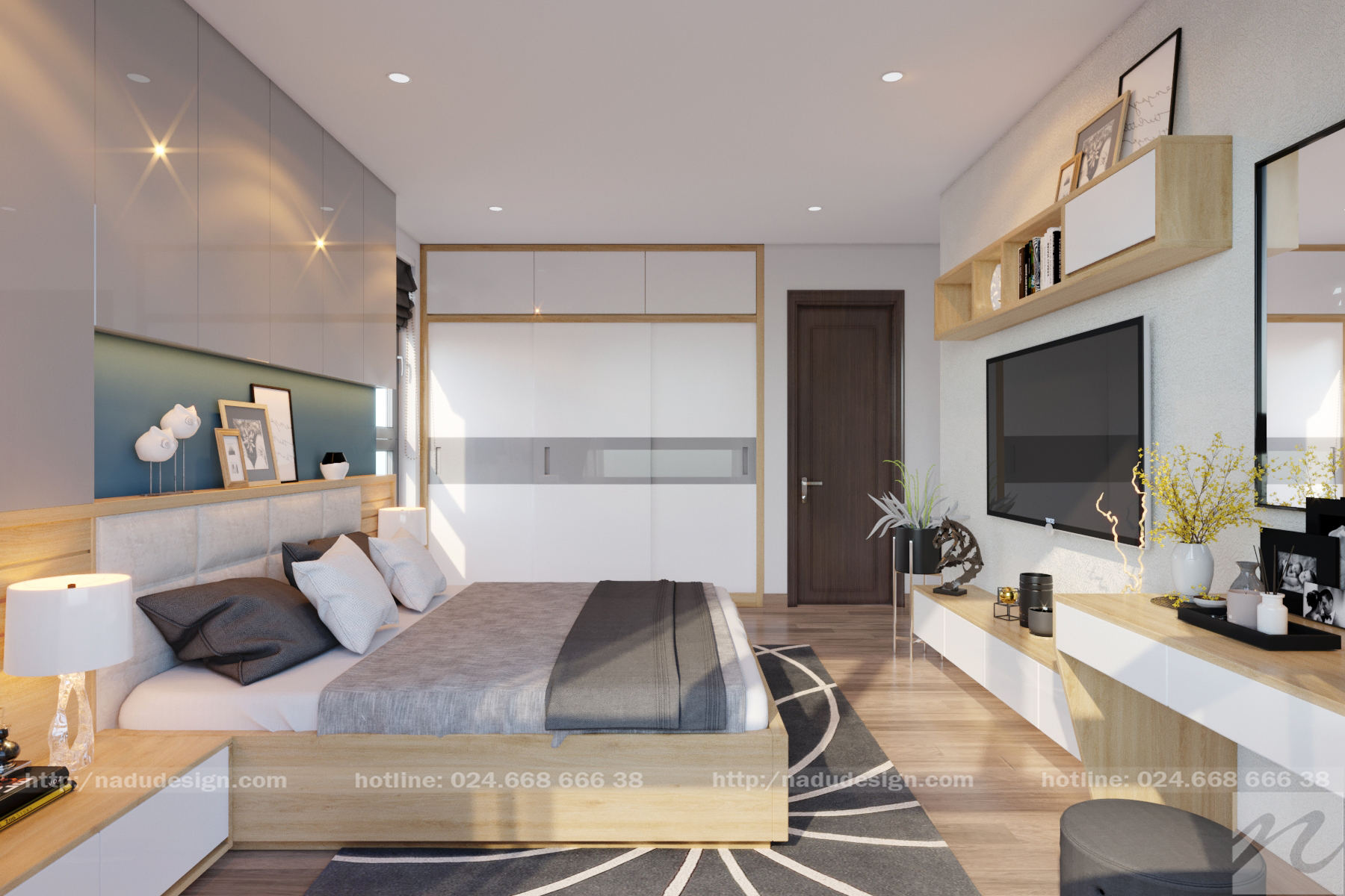 Mẫu thiết kế nội thất phòng ngủ 25m vuông đơn giản đẹp