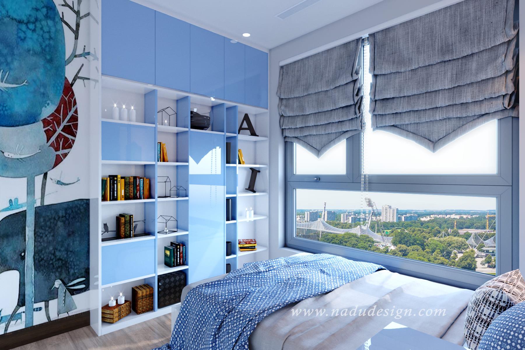 mẫu thiết kế phòng ngủ bé trai