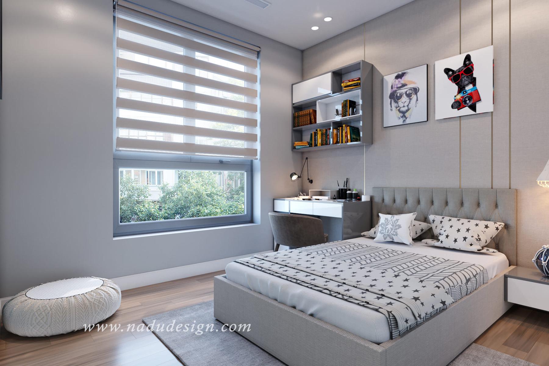 mẫu thiết kế nội thất phòng ngủ chung cư