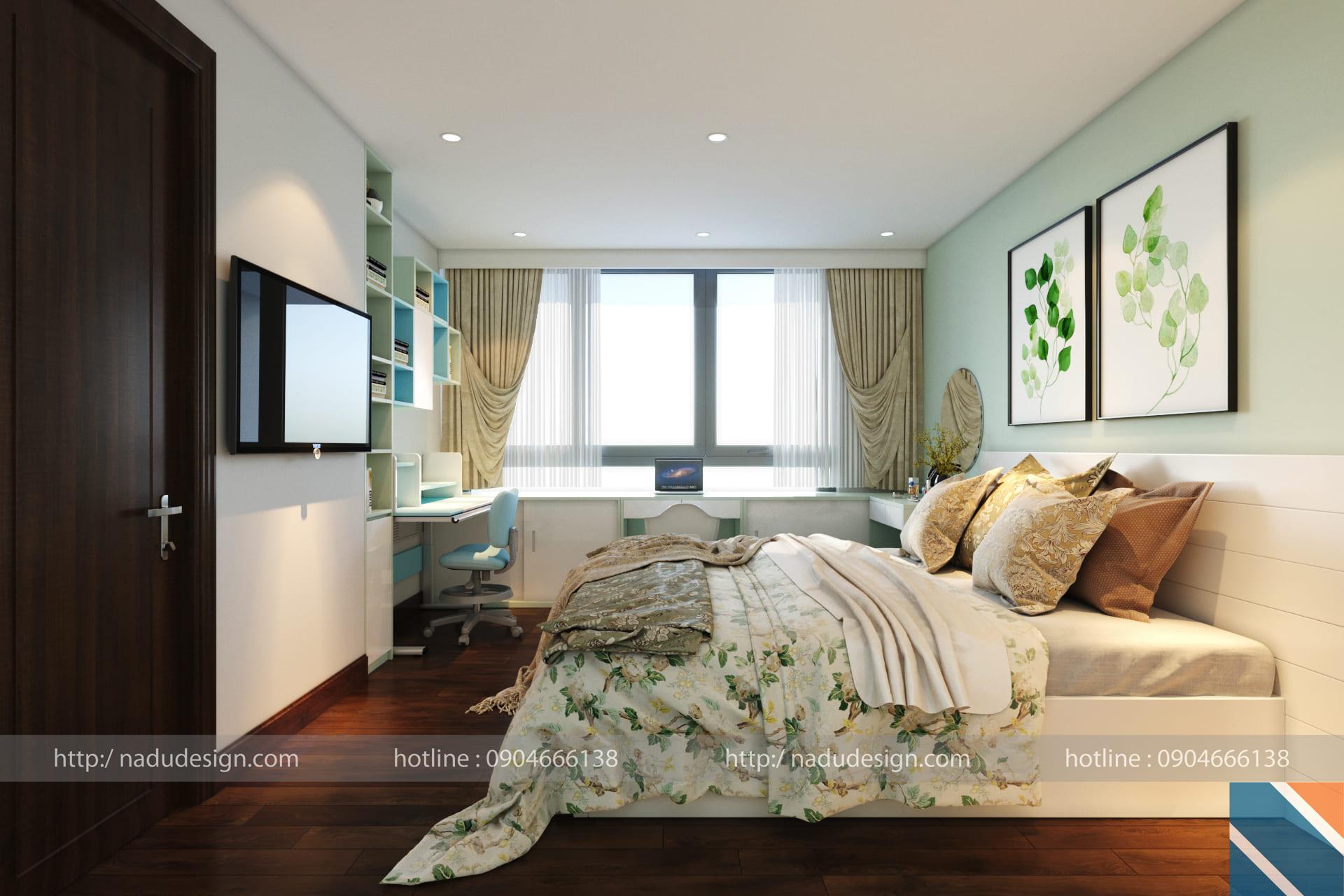 Mẫu thiết kế nội thất phòng ngủ nhỏ 10m2 đẹp hiện đại