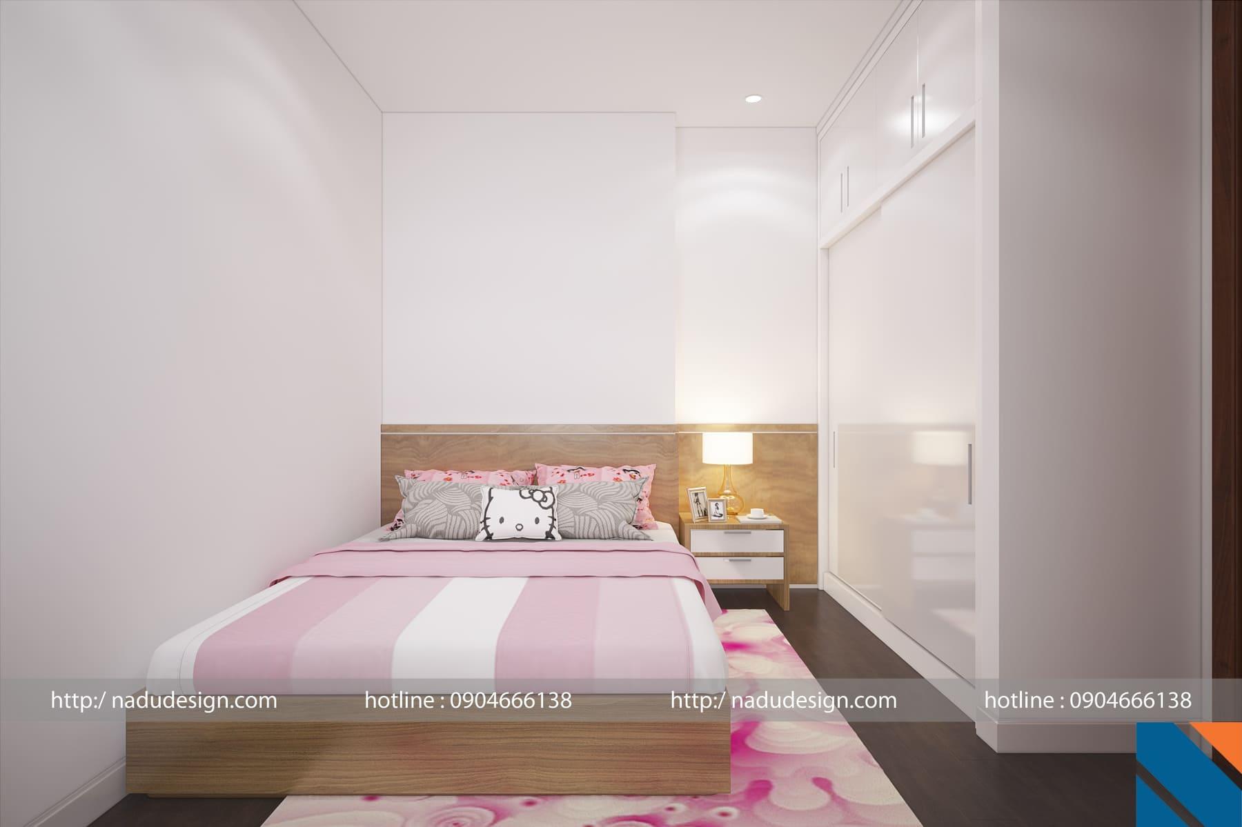 Mẫu thiết kế nội thất phòng ngủ nhỏ 6m vuông ảnh 2