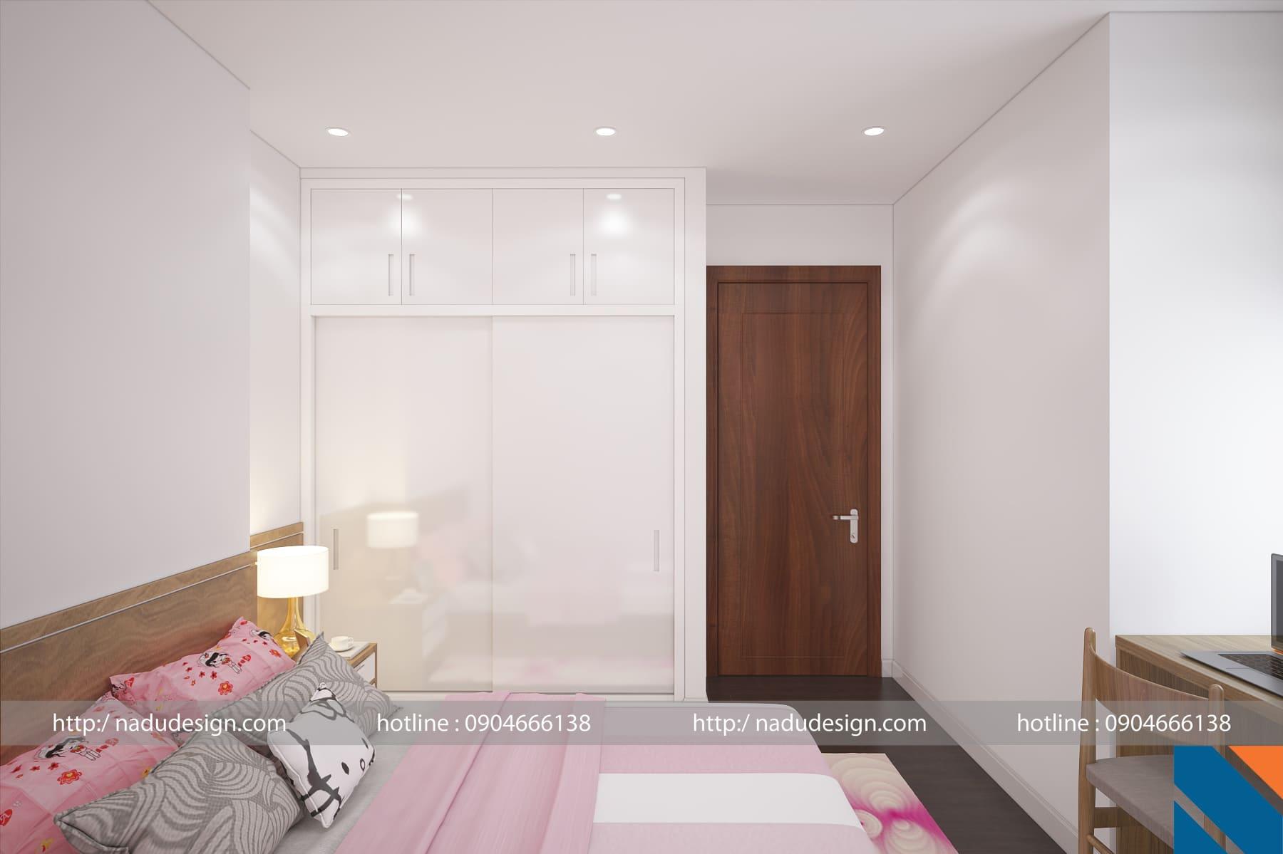 Mẫu thiết kế nội thất phòng ngủ nhỏ 6m vuông ảnh 3