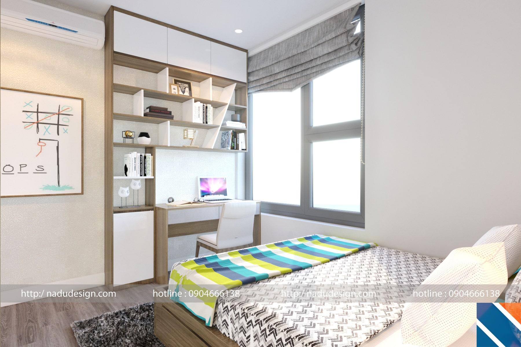 Mẫu thiết kế nội thất phòng ngủ nhỏ 9m vuông, ảnh 2